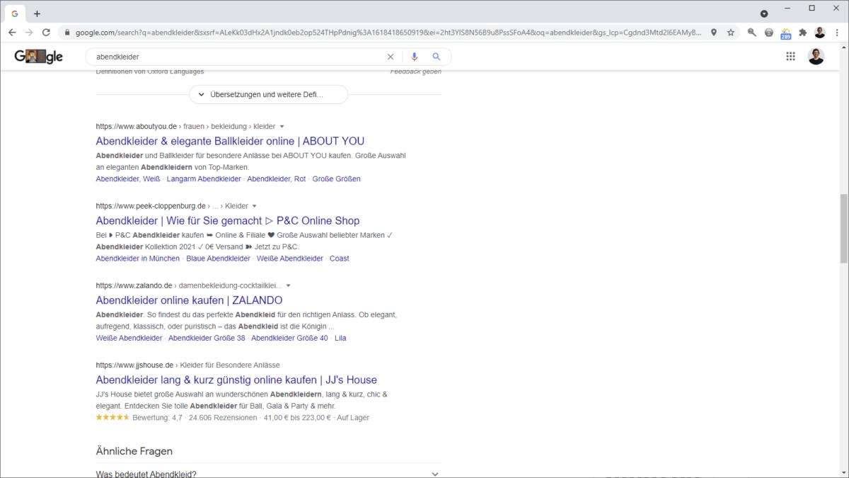 Sitelinks in der Google Suche