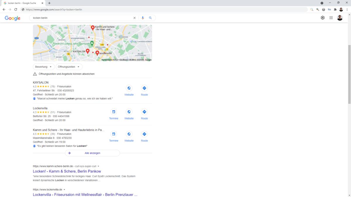 Bewertungstexte können das Ranking in Google Maps positiv beeinflussen